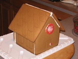 Gingerbread House Assembled