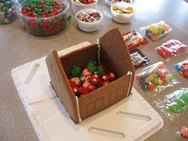 Gingerbread Houses: Include Candy IN the House!
