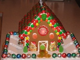 Gingerbread House: Decorated, But Not Yet Finished!