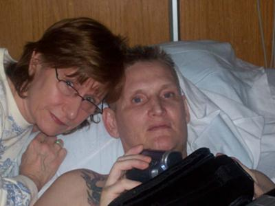 Paul and me, weeks before he died